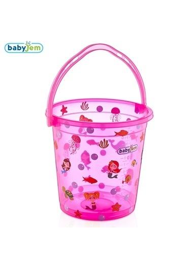 Baby Jem Babyjem Desenli Bebek Banyo Kovası  Pembe